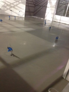 Floor prep in a day accomplished at numerous Verizon stores was possible with the VB 225 vapor mitigation system and LEVELINE 15 self-leveling underlayment